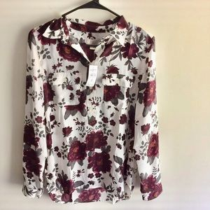 Loft Outlet Floral Blouse NWT $49.99 Size Small